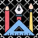 Design Tools Pencil Ruler Icon