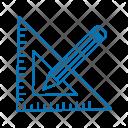 Pencil Geometry Design Icon