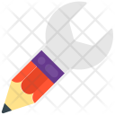 Wrench Pencil Tools Icon