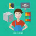 Designer 3 D Human Icon