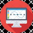 Monitor Graphics Designing Icon