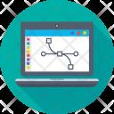 Laptop Graphics Designing Icon