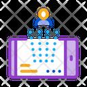 Designing Person Phone Icon