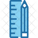 Ruler Pencil Designing Icon