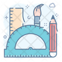 Designing Tools Stationery Graphic Tools Icon