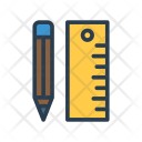Ruler Geometry Stationary Icon