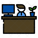Desk Reception Work Icon