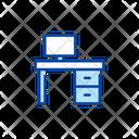 Desk Desktop Computer Icon