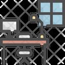 Desk Interior Furniture Icon