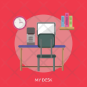 Desk Room Book Icon