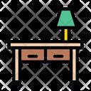 Desk Table Lamp Icon
