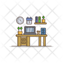 Desk Office Business Icon