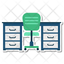 Desk Chair Office Icon