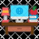 Desk Computer Desktop Icon