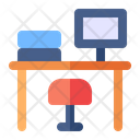 Desk Table Chair Icon