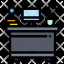 Desk Workplace Interior Icon