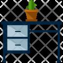 Desk Drawer Pot Icon