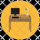 Desk Computer Night Icon
