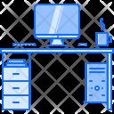 Computer Desk Table Icon