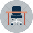 Desk Chair Table Icon
