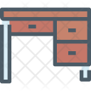 Desk Table Drawer Icon
