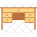 Desk Drawer Furniture Icon
