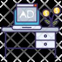 Sponsor Desk Marketing Icon