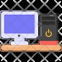 Personal Computer Desktop Monitor Icon