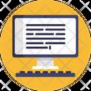 Desktop Online Journals Blog Writing Icon