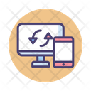 Desktop And Mobile Connection Icon