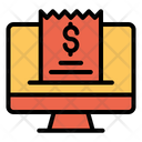 Desktop Invoice Bill Icon