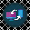 Desktop mobile connection Icon