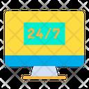 Desktop Service Hour Service Icon