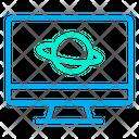 Desktop Astrophysics Earth Atom Icon
