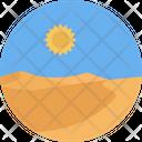 Dessert Sun Weather Icon