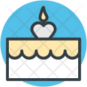 Dessert Cake Candle Icon