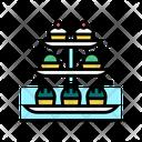 Desserts Tray Color Icon