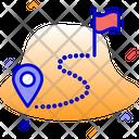 Destination Path Route Icon