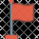 Destination Flag Fluttering Flag Icon