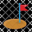 Destination Flag Flagpole Icon