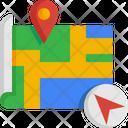 Destination Route Navigation Icon