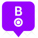 B Letter Location Icon