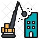 Crane Hammer Smash Icon