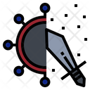Battle Coronavirus Virus Icon