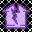 Lightning Destroyed House Icon