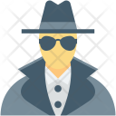 Detective Incognito Investigator Icon