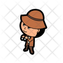 Detective Illustration Cartoon Icon