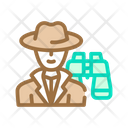 Detective Worker Color Icon