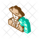 Detective Worker Male Icon