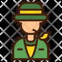 Detective Avatar Man Icon